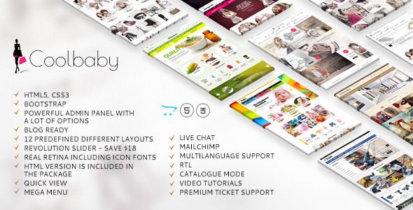 Coolbaby Opencart website template image