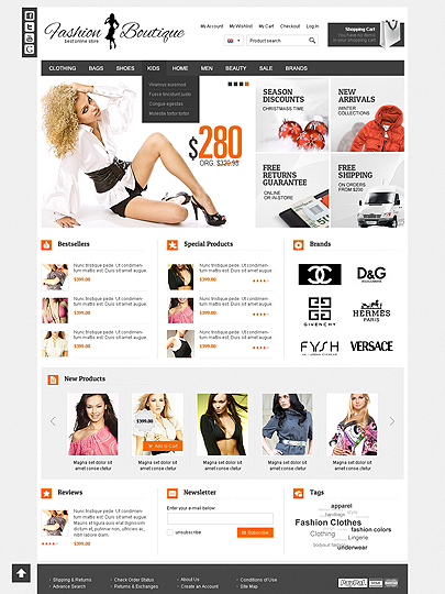 Fashion Boutique Magento template's image