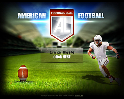 American football template's screenshot