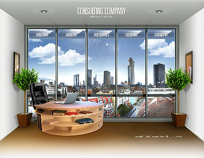 Consulting Co web template's image