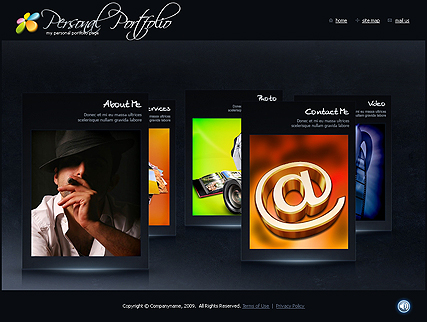 Portfolio template's screenshot