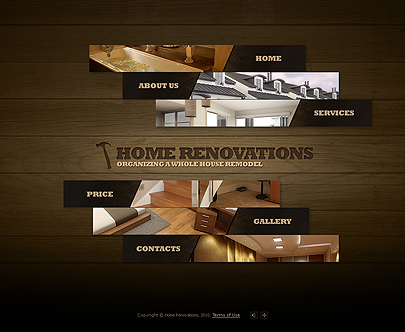 Home renovations template