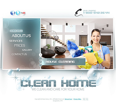 The image of Clean Home Web Theme's main page
