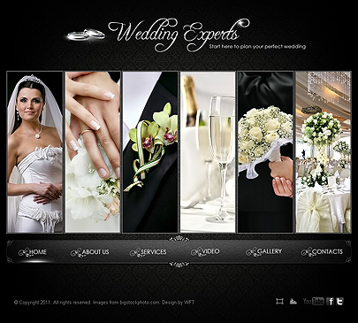 Wedding experts web template's image