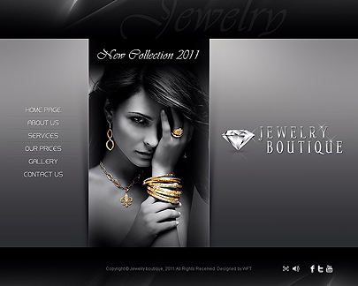 Jewelry boutique easy flash theme