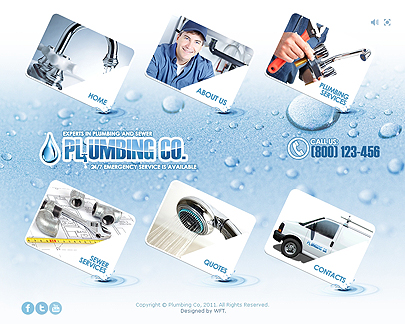 Plumbing Easy Flash template's screenshot