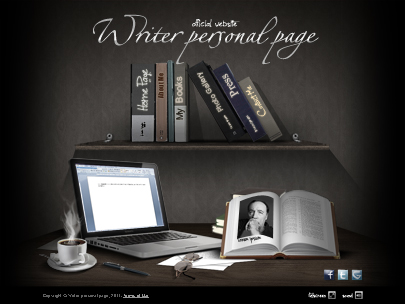 Writer personal page website template-easy flash - Tonytemplates