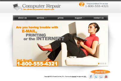 Computer Repair web theme's image