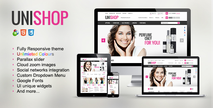 Banner of Unishop Oscommerce theme