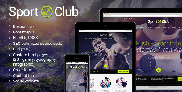 Sport Club website template's image