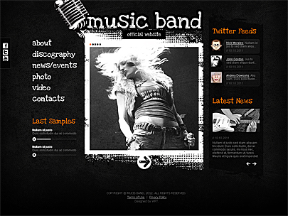 Music Band web theme main page's screenshot