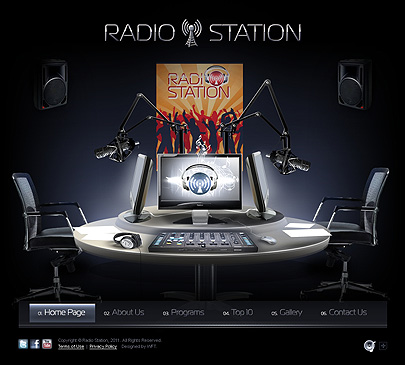 Radio station web template's screenshot