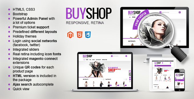The image of Buyshop Magento template's main page