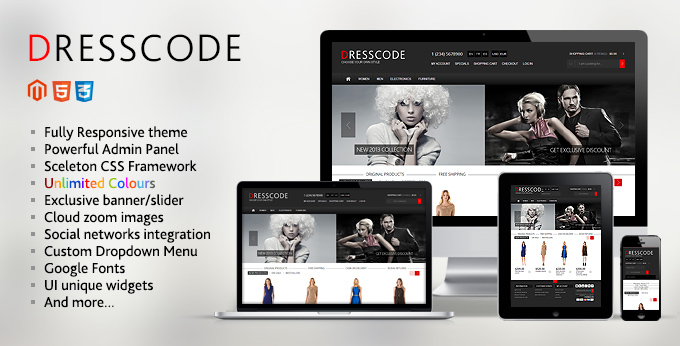 Banner of Dresscode Magento web theme