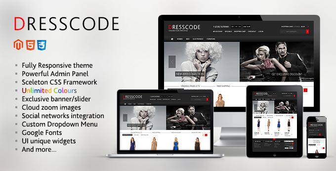 Banner of Dresscode Magento web theme