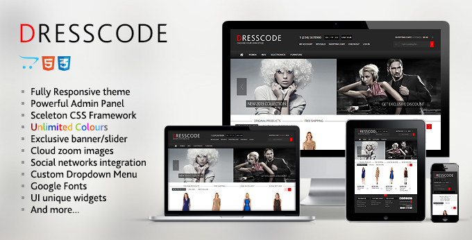 Banner of Dresscode responsive Opencart web theme