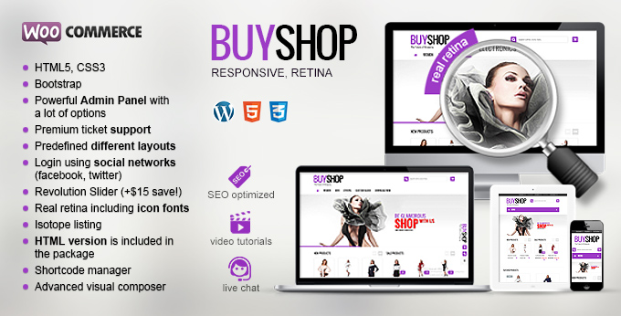 The banner of Buyshop Woocommerce theme