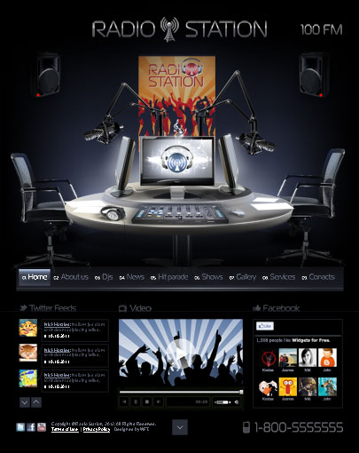Radio Station html5 template image