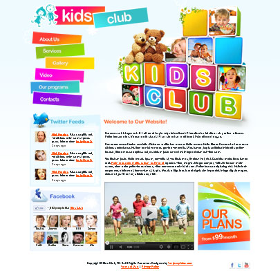 Kids Club Html5 template's screenshot