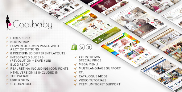 Cool Baby Shopify website theme's preview image