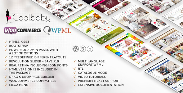 Coolbaby Woocommerce website theme picture