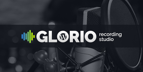 Recording Studio WordPress template image