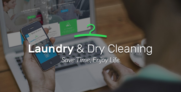 Laundry Dry Service website template