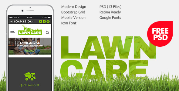 Image for Lawn Care PSD template