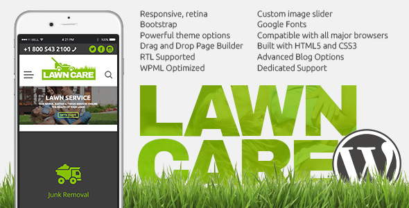 Lawn Care WordPress website theme