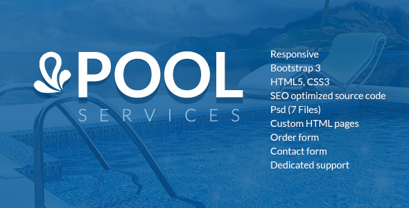 Pool Services Html5 Website Template