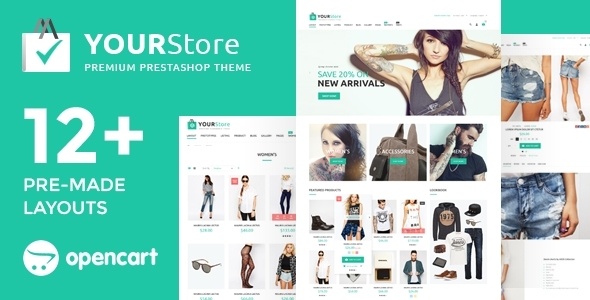 YourStore Opencart Responsive Fashion Theme image