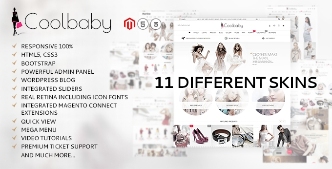 Coolbaby Magento template screenshot