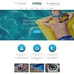 Swimming Pool Services Website Template image