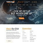 American football html5 template