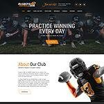 American football worpress template