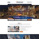 Electrician services website template