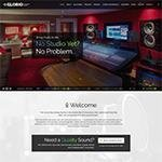 Sound studio WordPress theme Glorio