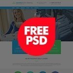 Laundry and dry services free psd template image