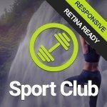 Sport Club website template image