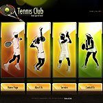 Tennis club template's screenshot