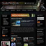 Studio records html template's screenshot