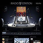 Radio Station html5 website template screenshoot
