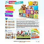 Kids club website template screenshot