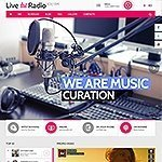 Live radio web theme