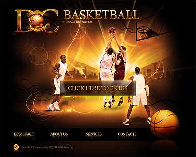 Basketball club web template's screenshot