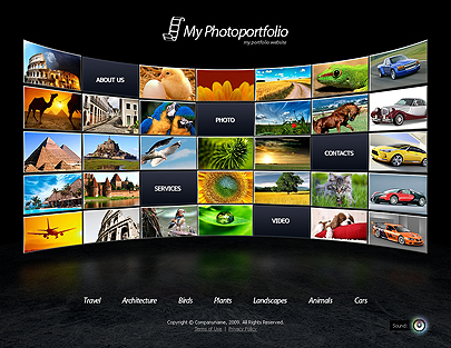 Photo portfolio website template's image