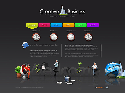 Creative business web template's image