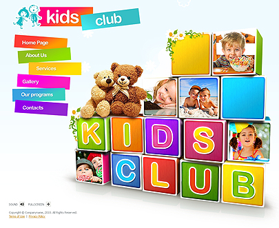 Kids club template's image