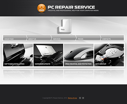 PC repair service template' screenshot