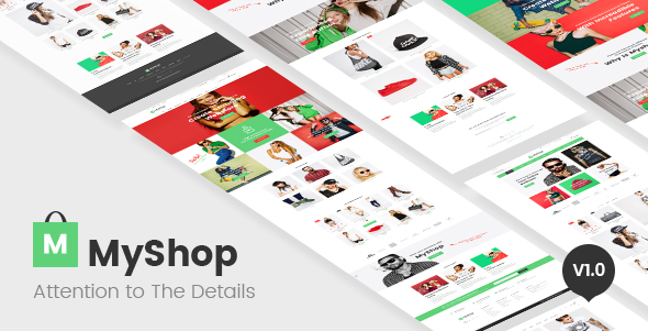 image of Myshop responsive Opencart theme